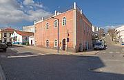 Street corner building small shops village of Mertola, Baixo Alentejo, Portugal
