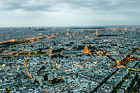 aerial view cityscape of Paris in france