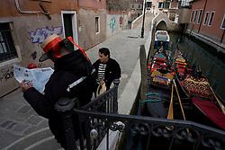 Venice (Italy) 18/02/2007 - The Gondoliers in Venice.