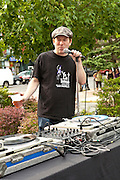 The boss man, Todd Abramson at Maxwell's Block Party
