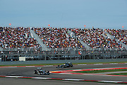 October 30-November 2 : United States Grand Prix 2014, Nico Rosberg  (GER), Mercedes Petronas leads Lewis Hamilton (GBR), Mercedes Petronas