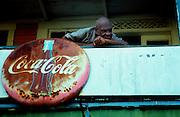 Port Antonio - Old Man on Balcony