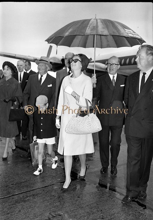 Princess Grace & Prince Rainier arrive at Dublin Airport..20.08.1963.