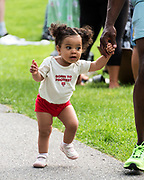 Bar Harbor, Maine. July 19, 2020. The youngest protesters at the MDI Racial Justice Coalition rally.