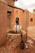 Traditional water well in a village in Morocco