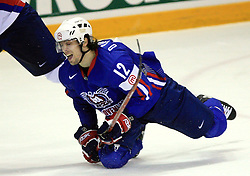 David Rodman of Slovenia at ice-hockey game Slovenia vs Slovakia at second game in  Relegation  Round (group G) of IIHF WC 2008 in Halifax, on May 10, 2008 in Metro Center, Halifax, Nova Scotia, Canada. Slovakia won after penalty shots 4:3.  (Photo by Vid Ponikvar / Sportal Images)