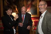 JULIE LYNN-EVANS; DAN TINDALL; NICHOLAS HOWARD, Everyman 25th Anniversary party, Spencer House. St. James' Place. London. SW1. 26 October 2016