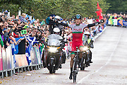 Mcc0055084 . Daily Telegraph<br /> <br /> Wale's Geraint Thomas wins Gold in the Men's Road Race on Day 11 of the 2014 Commonwealth Games in Glasgow .<br /> <br /> Glasgow 3 August 2014