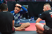 UFC lightweight Diego Sanchez of Albuquerque works on his jiu jitsu at Jackson Wink MMA in Albuquerque, New Mexico on June 9, 2016.