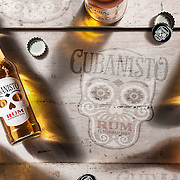 Cubanisto Rum flavoured beer - product shot in  the Hype Photography studio.