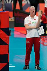 17-09-2019 NED: EC Volleyball 2019 Montenegro - Poland, Amsterdam<br /> First round group D - Poland win 3-0 / Coach Vital Heynen of Poland