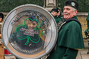 The St Coleman's Pipe Band from Ballindaggin -  the London St Patrick's Day parade from Piccadilly to Trafalgar Square.