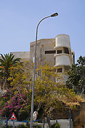 Bauhaus Architecture in Tel Aviv White City. in Rosh Pina street The White City refers to a collection of over 4,000 buildings built in the Bauhaus or International Style in Tel Aviv from the 1930s by German Jewish architects who emigrated to the British Mandate of Palestine after the rise of the Nazis. Tel Aviv has the largest number of buildings in the Bauhaus/International Style of any city in the world. Preservation, documentation, and exhibitions have brought attention to Tel Aviv's collection of 1930s architecture.