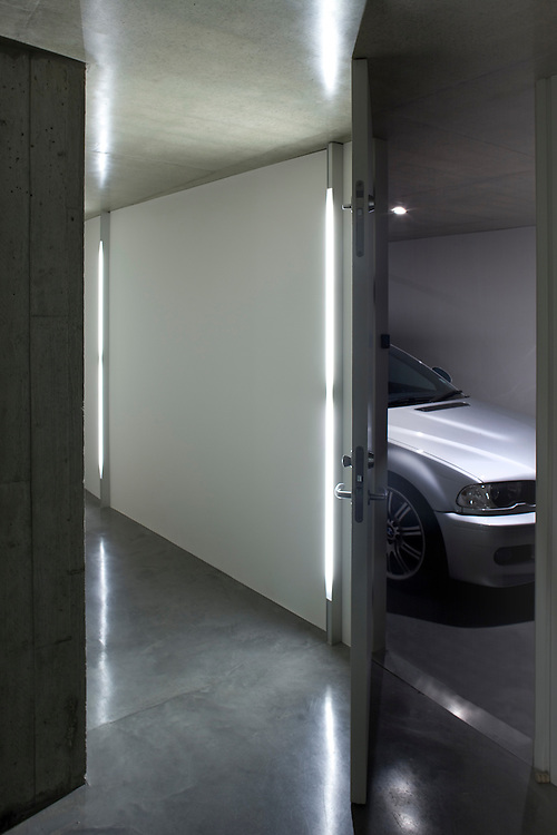 concrete house with garage, london