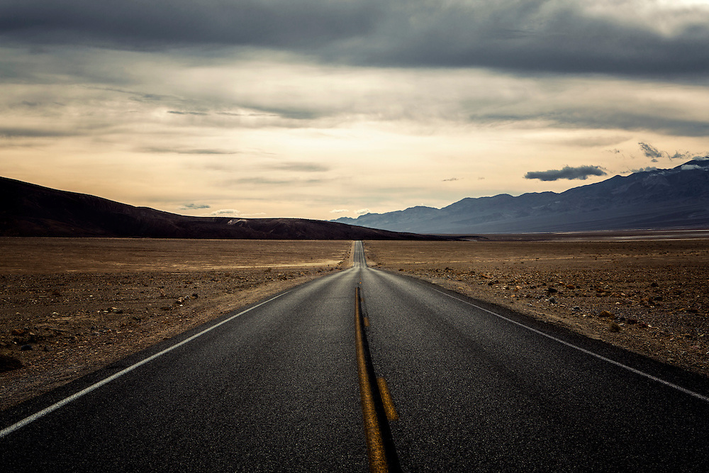 walk the line photographed by tracie spence, death valley, death valley highway, photograph of solitude, dream, endless possibilities, introspection