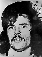 Contemporary picture of Gerry Adams, when he was captured by the British Army in Belfast, N Ireland, in November 1974 for alleged IRA membership. Ref: 197411000648<br />