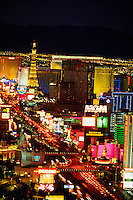 Looking north up the Strip (from the Mandalay Bay), Las Vegas Boulevard, Las Vegas, Nevada