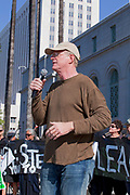"A climate change rally was held in Los Angeles on February 17, 2013 and drew hundreds of people to City Hall steps to hear speakers and organizers and their message for President Obama to take the nation ""Forward on Climate"", and say no to the Keystone XL pipeline. The rally was held in conjunction with the Washington DC rally held the same day and organized by 350.org. Speakers in Los Angeles included noted Environmentalist Ed Begley Jr., U.S. Rep. Henry Waxman  and Los Angeles City Councilman Jose Huizar."
