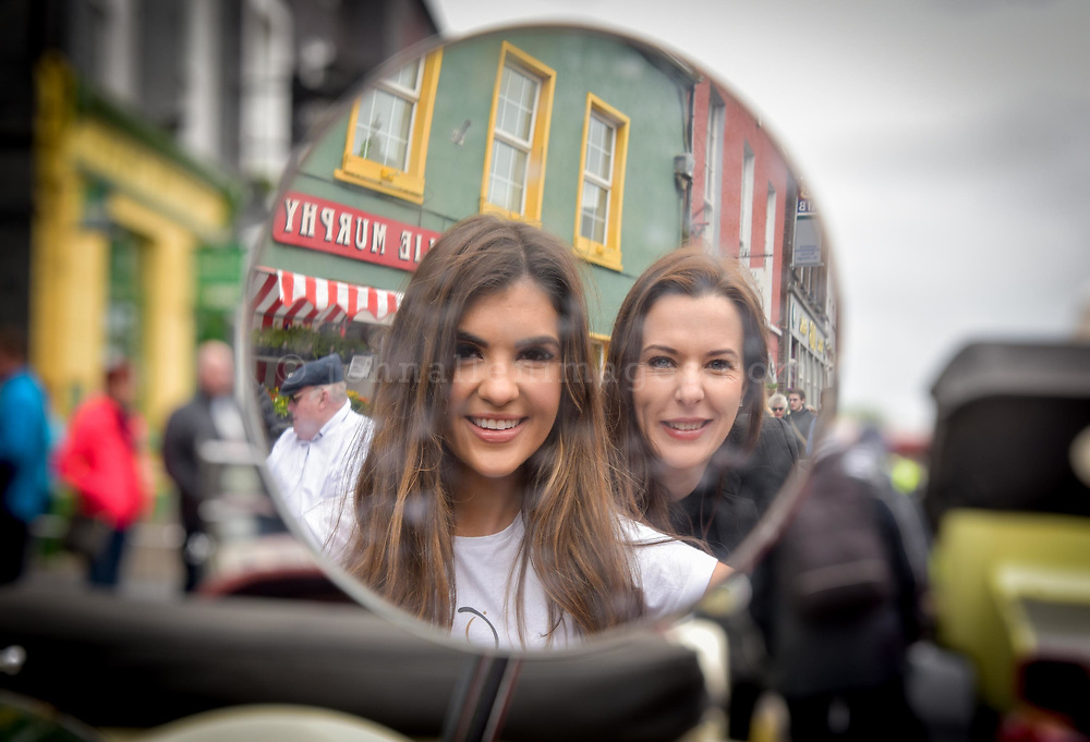REPRO FREE<br /> Hope Hickey from Lockdown models and Cassandra O' Connell from The Blue Haven pictured at the start of the Blue Haven Kinsale Vintage Rally on Saturday.<br /> Picture. John Allen<br /> <br /> Kinsale Vintage Rally Weekend 2017(May 5th- 8th) <br /> <br /> One the most exciting and spectacular weekends on the Kinsale events is The Blue Haven Kinsale Vintage Rally, taking place this weekend May 5th to 8th. With over 100 amazing Vintage cars on display in Kinsale over the weekend, it really is a fun filled family weekend worth seeing. Blue Haven Kinsale are proud sponsors and partners for over 10 years of the Kinsale Vintage Rally. The Vintage Cars were on display today Saturday 6th May outside The Blue Haven Hotel from 9.30am, with special guest from Lockdown model agency and many people who were out to see this great event which takes place once a year. It's a fantastic day for the whole family and is enjoyed by all. <br /> <br /> Now entering its 28th year, it is widely regarded as one of the premier events on the Irish classic car calendar.<br /> <br /> Following the twinning of Kinsale with the Welsh town of Mumbles in 1990, KVCMC also decided to twin with the town's own car club, The Swansea Historic Vehicle Register. Each year see's large numbers of SHVR members make the trip to Kinsale for the May rally, a gesture that is returned each July when the club makes the return trip to Swansea.<br /> <br /> Kinsale Vintage & Classic Motor Club originally established in 1988 by a group of classic car enthusiasts, the club has since grown to a current membership of over 100 members. All members share a common passion –their love of driving and preserving the classic cars. Indeed, one could ask for no better setting than the historic town of Kinsale and the surrounding beauty of the West Cork countryside.<br /> <br /> For more details please contact  cassandra@bluehavenkinsale.com or call 021-4772209 or Cathal O'Shea- Chairman KVCMC on 086-2486496