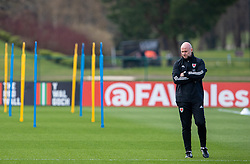 CARDIFF, WALES - Tuesday, March 23, 2021: Wales' care-taker manager Robert Page during a training session at the Vale Resort ahead of the FIFA World Cup Qatar 2022 Qualifying game against Belgium. (Pic by David Rawcliffe/Propaganda)