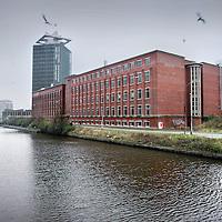 Nederland, Amsterdam , 26 januari 2012..Voormalig Shell gebouw (tegenwoordig krakersbolwerk) op Overhoeks terrein in Amsterdam Noord. .Foto:Jean-Pierre Jans
