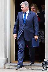 London, October 10 2017. Minister of State for Immigration Brandon Lewis attends the UK cabinet meeting at Downing Street. © Paul Davey