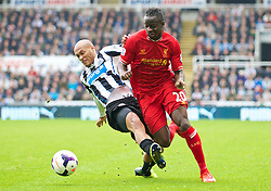 19.10.2013, St. James Park, New Castle, ENG, Premier League, ENG, Premier League, Newcastle United vs FC Liverpool, 8. Runde, im Bild Liverpool's Aly Cissokho, action against Newcastle United // during the English Premier League 8th round match between Newcastle United and Liverpool FC St. James Park in New Castle, Great Britain on 2013/10/19. EXPA Pictures © 2013, PhotoCredit: EXPA/ Propagandaphoto/ David Rawcliffe<br /> <br /> *****ATTENTION - OUT of ENG, GBR*****