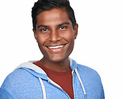 Actor Sidd K. poses for a headshot at SOSKIphoto in Hayward, California, on October 12, 2020. (Stan Olszewski/SOSKIphoto)
