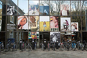 Photographic work displayed on the exterior building of the Truman Brewery along Brick Lane on the 28th March 2018 in East London, United Kingdom.