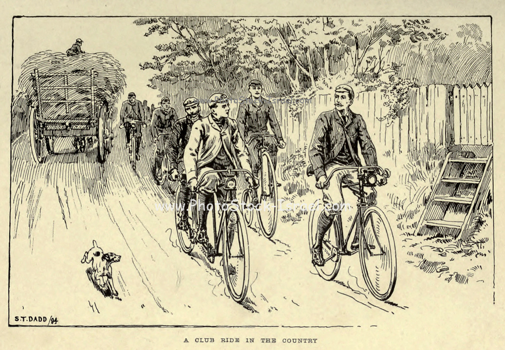 from 'Cycling' by The right Hon. Earl of Albemarle, William Coutts Keppel, (1832-1894) and George Lacy Hillier (1856-1941); Joseph Pennell (1857-1926) Published by London and Bombay : Longmans, Green and co. in 1896. The Badminton Library