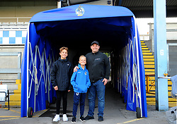Mascot and family pose for a photo- Mandatory by-line: Nizaam Jones/JMP - 09/10/2018 - FOOTBALL - Memorial Stadium - <br /> Bristol, England - Bristol Rovers v Yeovil Town - Checkatrade Trophy