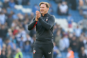 Southampton manager Ralph Hasenhuttl applauds the fans after the Premier League match between Brighton and Hove Albion and Southampton at the American Express Community Stadium, Brighton and Hove, England on 30 March 2019.