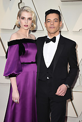 Lucy Boynton and Rami Malek walking the red carpet as arriving to the 91st Academy Awards (Oscars) held at the Dolby Theatre in Hollywood, Los Angeles, CA, USA, February 24, 2019. Photo by Lionel Hahn/ABACAPRESS.COM