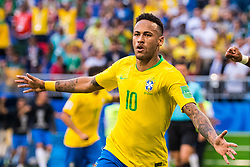 July 2, 2018 - Samara, Russia - 180702 Neymar of Brazil celebrates after scoring 1-0 during the FIFA World Cup round of 16 match between Brazil and Mexico on July 2, 2018 in Samara..Photo: Petter Arvidson / BILDBYRN / kod PA / AI180702_53f (Credit Image: © Petter Arvidson/Bildbyran via ZUMA Press)