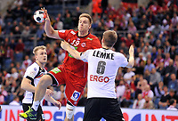 BILDET INNGÅR IKKE I FASTAVTALER. ALL NEDLASTING BLIR FAKTURERT.<br /> <br /> Håndball<br /> EM 2016<br /> Semifinale Tyskland v Norge<br /> Foto: imago/Digitalsport<br /> NORWAY ONLY<br /> <br /> Deutschland - Norwegen / Krakau, Handball EM EHF EURO, Nationalteam, Länderspiel, Halbfinale / Espen Lie Hansen