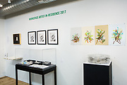 Displays of artists' books and related arts in The Center for Book Arts.