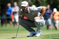 March 23, 2019 - Palm Harbor, FL, U.S. - PALM HARBOR, FL - MARCH 23: Dustin Johnson looks at the line of his putt during the third round of the Valspar Championship on March 23, 2019, at Westin Innisbrook-Copperhead Course in Palm Harbor, FL. (Photo by Cliff Welch/Icon Sportswire) (Credit Image: © Cliff Welch/Icon SMI via ZUMA Press)