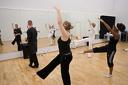Students auditioning for a dance performance lead by teacher and Dancer in residence,