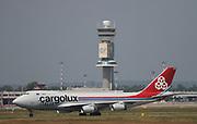 LX-SCV Cargolux Italia Boeing 747-4R7F at Milan - Malpensa