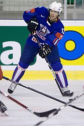 David Rodman of Slovenia  at ice-hockey friendly match between National teams of Slovenia and Denmark, on April 14, 2010, in Tivoli hall, Ljubljana, Slovenia. Denmark defeated Slovenia 5-3. (Photo by Vid Ponikvar / Sportida)