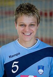 Portrait of Nastja Praprotnik of Slovenian Handball Women National Team, on June 3, 2009, in Arena Kodeljevo, Ljubljana, Slovenia. (Photo by Vid Ponikvar / Sportida)