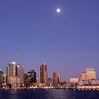 USA, California, San Diego. San Diego Skyline.