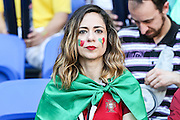 Fans during starting F Group of Euro 2016 between Portugal and Hungary at the Stade des Lumières in Lyon, France on Wednesday, 22.