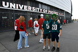 18 Jan 2009: Philadelphia Eagles fans pose for a photo before the NFC Championship game against the Arizona Cardinals on January 18th, 2009. The Cardinals won 32-25 at University of Phoenix Stadium in Glendale, Arizona. (Photo by Brian Garfinkel)