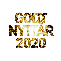Nyttårshilsen i form av fyrverkeribilde i teksten «Godt nyttår 2020».