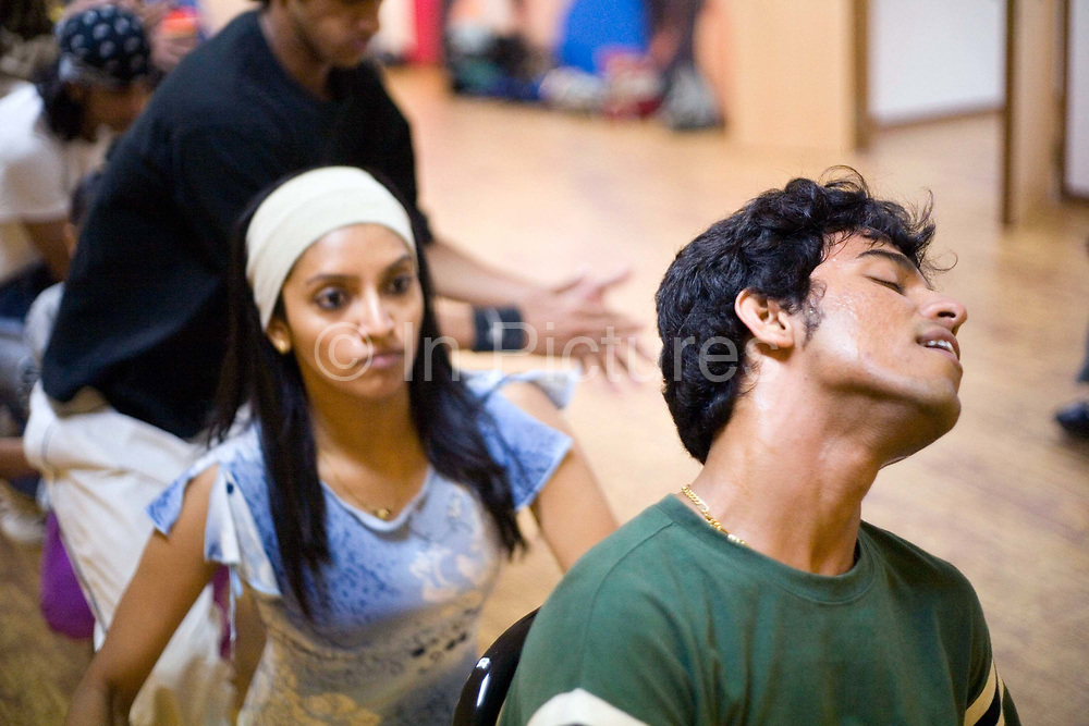 Dancers in rehearsals for the Merchants of Bollywood in the Yash Raj Studios in Mumbai (Bombay), India<br /> <br /> The Merchants of Bollywood, An Indian theatrical dance musical, charts the history of the world's largest and most prolific film industry, and is loosely based on the showbusiness, Merchant family. Seen by over two million people worldwide, the show is homage to the world of Indian cinema.