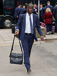 Manchester City's Bacary Sagna arrives at Manchester Airport to board the team flight to Barcelona ahead of the UEFA Champions League second leg match against Barcelona - Photo mandatory by-line: Matt McNulty/JMP - Mobile: 07966 386802 - 17/03/2015 - SPORT - Football - Manchester - Manchester Airport - Barcelona v Manchester City - UEFA Champions League