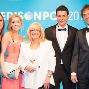 NLD/Amsterdam//20140331 - Uitreiking Edison Pop 2014, Corry Konings en familie