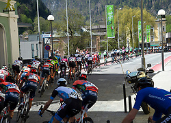 22.04.2019, Kufstein, AUT, Tour of the Alps, 1. Etappe, Kufstein - Kufstein, 144km, im Bild // das Peloton at Kufstein during the 1st Stage of the Tour of the Alps Cyling Race from Kufstein to Kufstein (144km) in in Kufstein, Austria on 2019/04/22. EXPA Pictures © 2019, PhotoCredit: EXPA/ Reinhard Eisenbauer