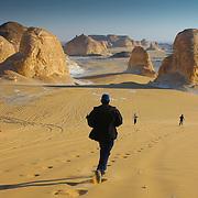 El Akabat mountain desert rock formations, Egypt (January 2008)